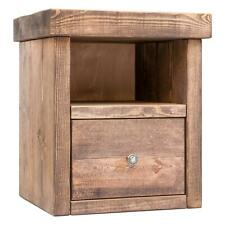 Rustic Bedside Tables   Pine Solid Wood   Funky Chunky Furniture   1 Drawer