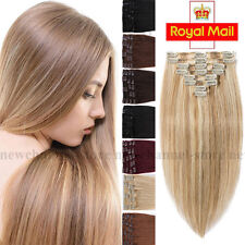 """18""""20""""22"""" Real THICK 110G Clip in 100% Remy Human Hair Extensions Full Head 8PCS"""