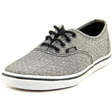 Vans Authentic Lo Pro Youth  Round Toe Canvas Gray Sneakers