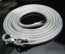 Free Shipping 10pcs silver plated 3mm snake chain necklace 16-24inch