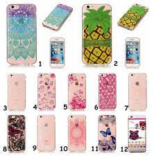 Rubber Soft TPU Cute Paint Clear Back Case Cover Skin For iPhone/Samsung/Huawei