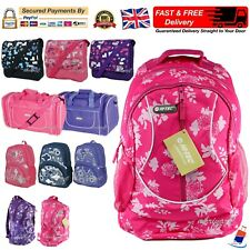 Girls HI-TEC Bag School Backpack Rucksack Gym Travel College Fashion Uni Ladies