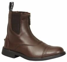 Tuffrider Baroque Front Zip Paddock Riding Boots in Full Grain Leather Child