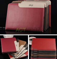Genuine Leather Flip Stand Holder Shell Case Cover For iPad 2 3 4 Air Mini Pro