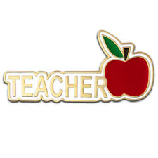 PinMart's Teacher Red Apple Appreciation Gift Recognition Lapel Pin 1-1/4""