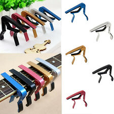 Silver Quick Change Classic Guitar Electric Clamp Key Capo Clamp For Acoustic