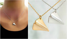 One Direction Harry styles Silver  Gold Paper Airplane charm pendant Necklace
