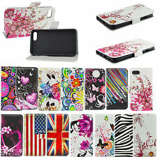 Print Leather Magnet Flip Phone Cover Slots Wallet Case For Apple iPhone 7 4.7""