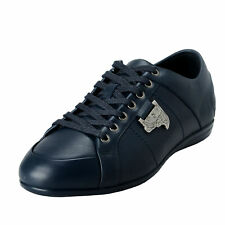 Versace Collection Men's Blue Leather Fashion Sneakers Shoes 6 7 8 9 10 11 12