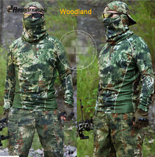 Outdoor Hunting Tactical Camouflage Long Sleeve T-Shirt Hunting Woodland M-XXL