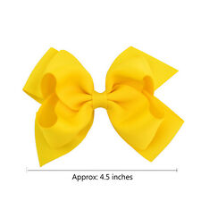 Alligator Clips Big Grosgrain Ribbon Hair Clip Girls Baby Bows Boutique 1Pair