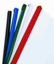 Plastic Slide Binders - various colours & quantities, capacities of 5mm to 17mm