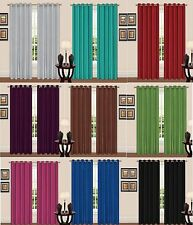 TIE BACK BLACKOUT CURTAINS THERMAL INSULATED EYELET WARM WINTER BEDROOM CURTAINS