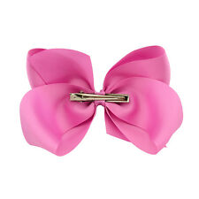 1Pcs Girl Ribbon Baby Grosgrain Big Bows Hair Clip Alligator Clips BoutIque Bow