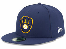 New Era Milwaukee Brewers 2017 ALT 2 59Fifty Fitted Hat (Navy) MLB Cap