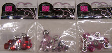 U CHOOSE  Assorted Bazzill Basics BLING BUTTONS 3D sparkle pink red