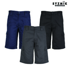 Mens Drill Cargo Short Work Casual Shorts 100% Cotton ZW012
