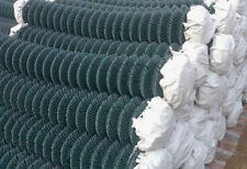 Green PVC coated  steel wire Chain Link Fence