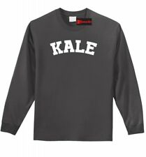 Kale Long SLV T Shirt Funny University Spoof Food Vegan Vegetarian Health Tee Z1