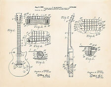 1955 Gibson Les Paul Art Posters McCarty Patent Print Guitar Themed Gifts