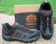 NEW Mens KING'S Honeywell Black Grey Leather Lace-Up Steel Toe Work Hiker Shoes
