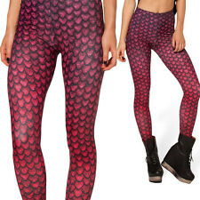 Dinosaur Egg Graphic Red Womens Leggings Printed Trousers Pencil Pants Stretchy