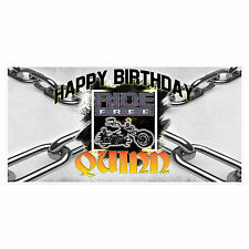 Ride Free Birthday Banner Personalized Custom Party Backdrop Decoration