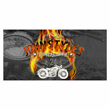 Ride Free Skulls Birthday Banner Personalized Custom Party Backdrop Decoration