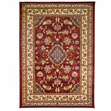 Persian Traditional Rug with Oriental Design – Hardwearing – Living Room - Red