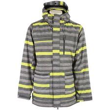 Ripzone Frequency Snowboard Jacket-Gray/Yellow. Sugg. Retail:  $160.00