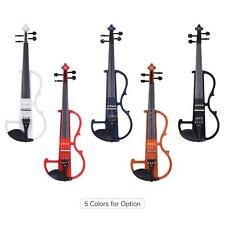 4/4 Electric Silent Violin Fiddle Style-2 with Tuner Headphones Rosin Bow S0W4