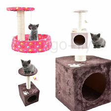 Cat Tree House Kitten Scratching Post Centre Climbing Tower Sleep Activity Toy