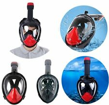 Swimming Full Face Mask Surface Underwater Diving Snorkel Scuba For Gopro Hero
