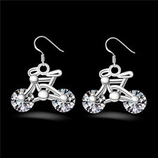 Jewelry Earring Crystal Bike New Bicycle 1Pair Fashion Gift Design Women Earring