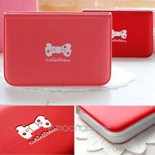 Cute Women Girl  Bowknot Business ID Credit Card Pocket Bag Wallet Holder Case