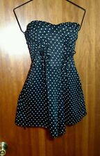QED London Strapless Bustier Shorts Pinup Romper New with Tags