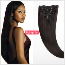 Hot Sale Human Hair Weft Brazilian Straight Clip In Hair Extension #2 Remy Hair