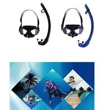 Pro Silicone Scuba Diving Swimming Snorkeling Goggles Glasses Mask & Snorkel Set