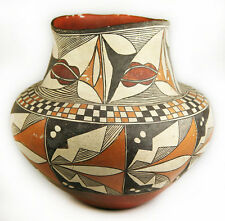 c. 1890 Acoma Polychrome Olla with Checkerboard Pattern