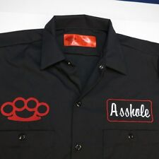 NEW NWT DICKIES A$$HOLE BRASS KNUCKLES FIGHT GARAGE MECHANIC RACING WORK SHIRT