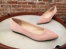 Isaac Mizrahi Pink Suede Pointed Toe Rosy Ballet Flats NEW