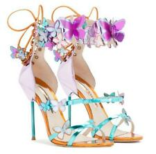 Chic Womens Butterfly High Heel Open Toe Lace Up Sandals PARTY Stiletto Shoes SZ