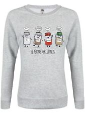 Spicy Seasons Greetings Women's Grey Christmas Sweater