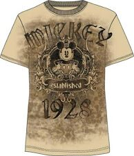 Disney Mickey Mouse T Shirt Putty Mickey Crest Mens