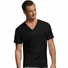 7765AS Hanes Mens Dyed ComfortSoft TAGLESS V-Neck Undershirt 4-Pack