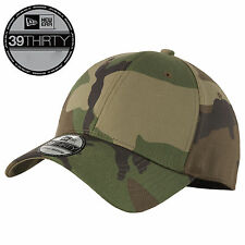 New Era 39Thirty Blank Stretch Cotton fitted CAMO Hat/Cap NE1000  Free Shipping