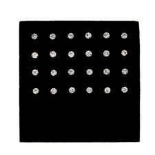 24pcs/box Nose Bone Stud Surgical Steel Rhinestone Round Body Piercing Jewelry