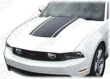 Ford Mustang 2005-2014 Roush Style Hood Accent Stripes Decals (Choose Color)