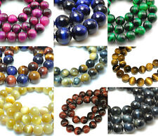 Wholesale Natural Tiger Eye Gemstone Beads Smooth Round Bead 6mm 8mm 10mm 12mm