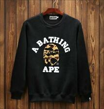 2017 NWT Unisex Japan Bape Regular Letters Style Camo Icon ape crew sweater